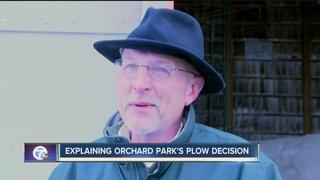 Explaining Orchard Park's plow decision