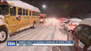 Students stuck at school due to storm