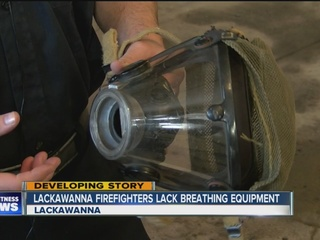 Firefighters concerned about breathing equipment