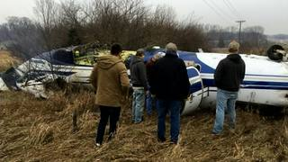 Man walks away from plane crash w minor injuries