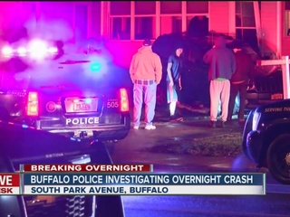 Driver hits a house in overnight SUV crash