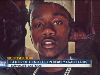 Father of teen killed in car crash talks