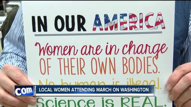 Women from Western New York attending Trump protest march in Washington D-C-