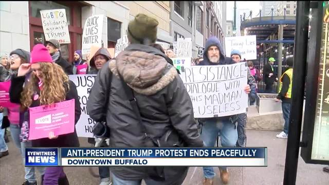 Protesters take to the streets of Buffalo to share their feelings about…