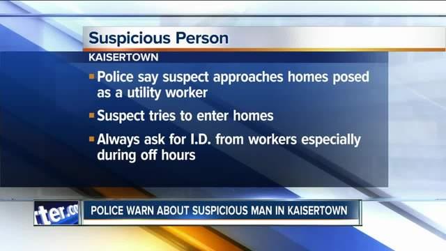 Police warn Kaisertown neighbors of scam