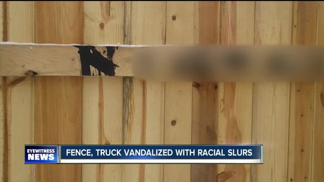 Buffalo man-s property vandalized with racial slurs