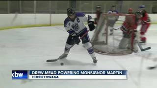 Kaitlin Drew-Mead powering Monsignor Martin