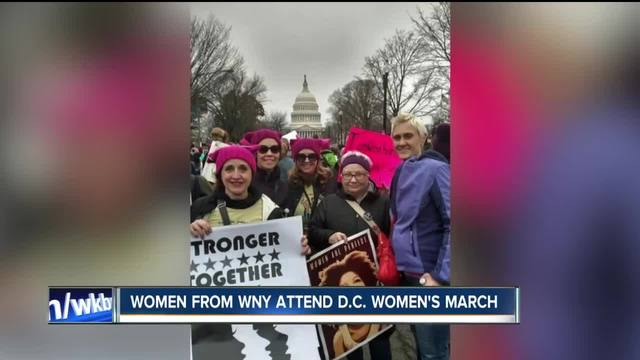 Women from WNY attend D-C- Women-s March