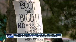 Deadline is here to serve Paladino with notice