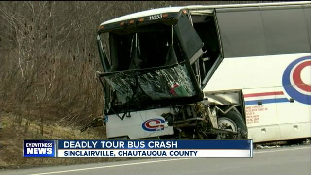 Car vs bus fatal accident