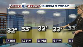 Snow showers linger through the afternoon