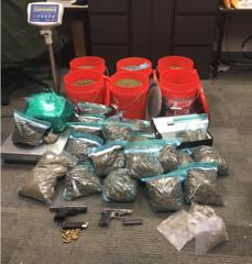 Buckets full of marijuana found in raid