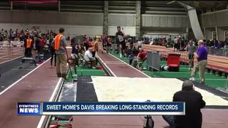Davis Shattering Indoor Track Records