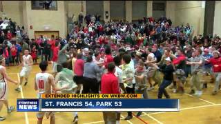 St. Francis sweeps Park, wins OT thriller 54-53