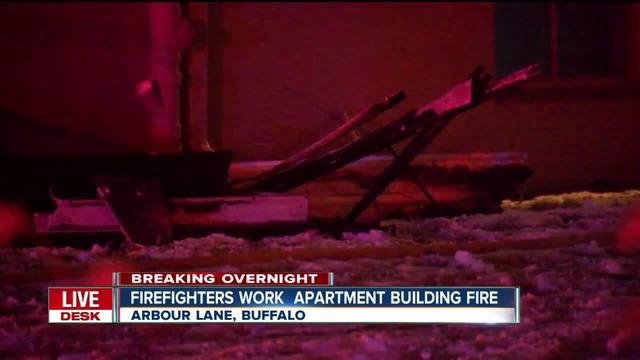 Overnight fire destroys South Buffalo apartment