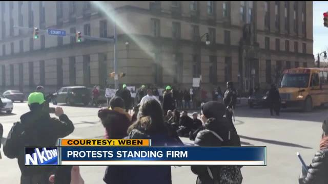 7 protestors arrested outside State of the City