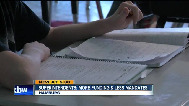 Superintendents want more funding and less mandates