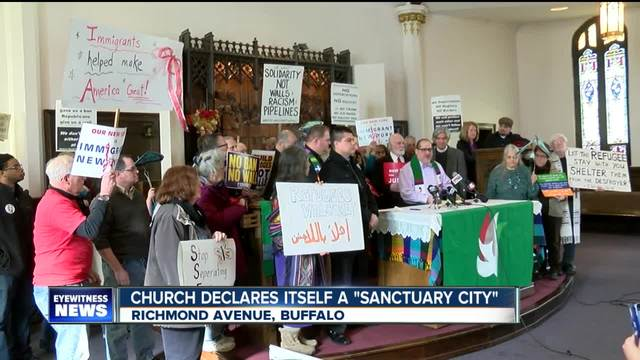 Church declares itself a -sanctuary city-