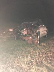 Driver charged with DWI in one-car crash