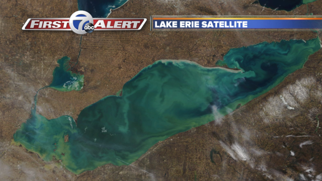 new pics of ice free lake erie hot off the satellite
