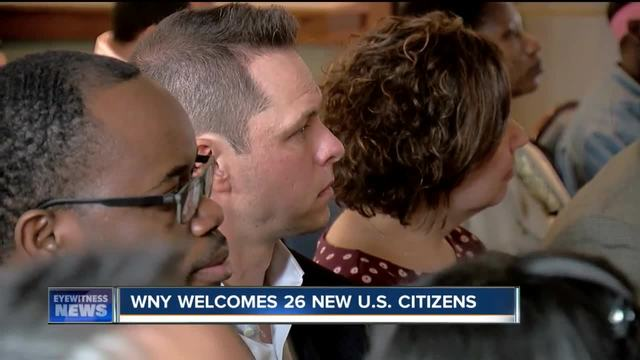 WNY welcomes 26 new U-S- citizens