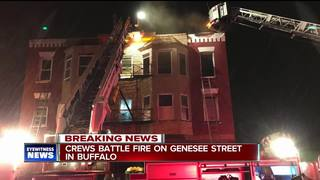 Two people escape apartment fire on east side