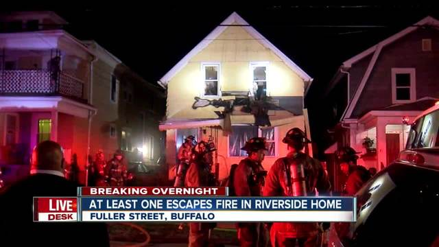 At least one forced out of Riverside home after fire