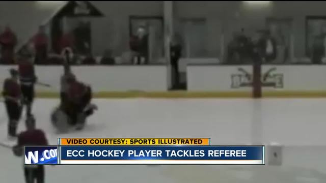 Referee attacked- ECC hockey player charged