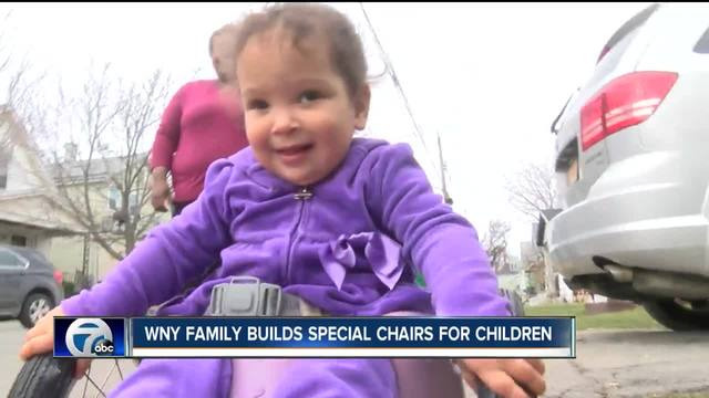 WNY Family builds special chairs for children