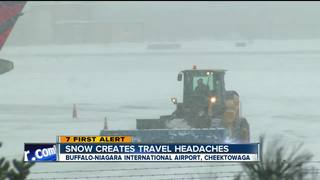 Storm cancels dozens of flights in Buffalo