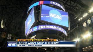 Snow won't stop NCAA March Madness Tournament