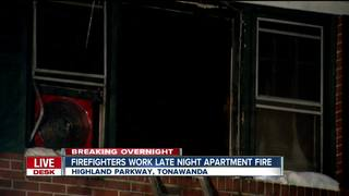 Firefighters work overnight apartment fire