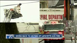 Community gives back to victims of fire
