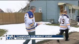 Buffalo Sabres Alums deliver Meals on Wheels