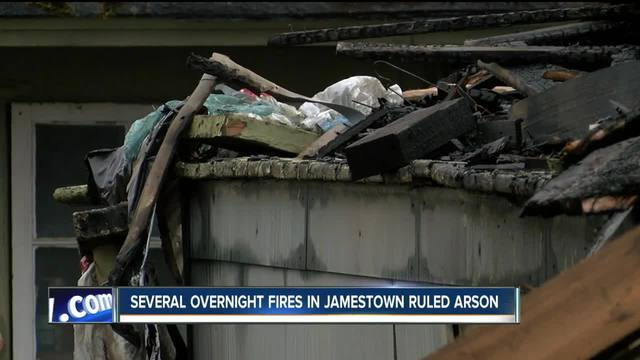 Several overnight fires in Jamestown ruled arson