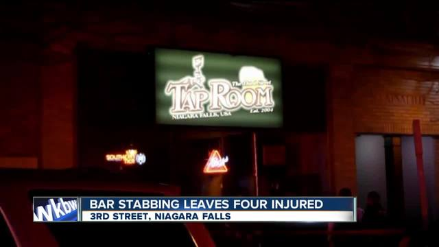 Bar stabbing leaves four injured
