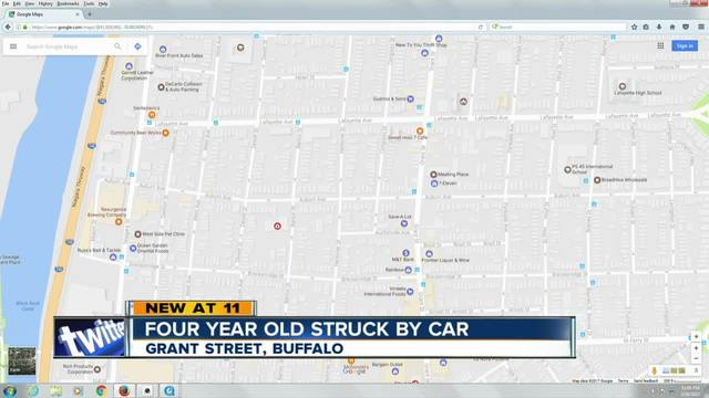 Child in critical condition after being hit by a car in Buffalo