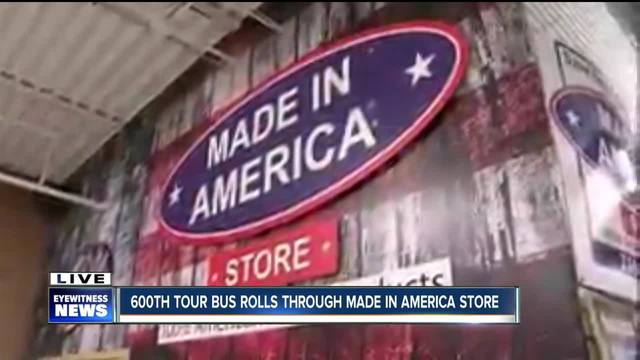 600th tour bus rolls through the Made In America Store