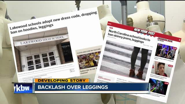 Backlash over leggings