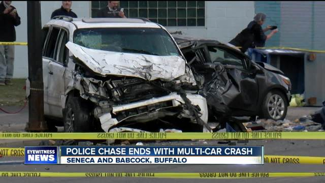 Police chase ends with multi-car crash