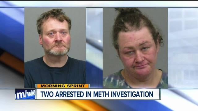 Two arrested after meth lab found in apartment