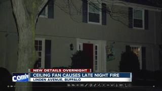Ceiling fan causes overnight fire