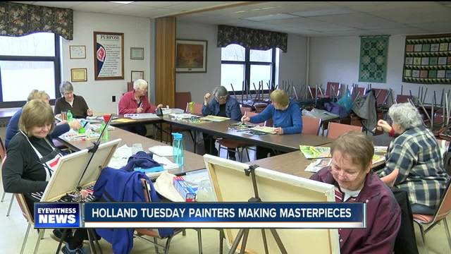 Holland Tuesday Painters creating masterpieces