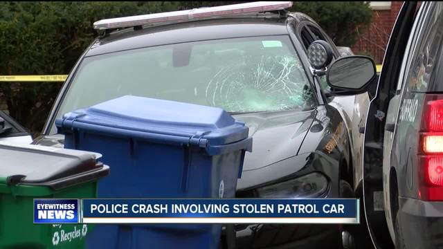 Police crash involving stolen patrol car