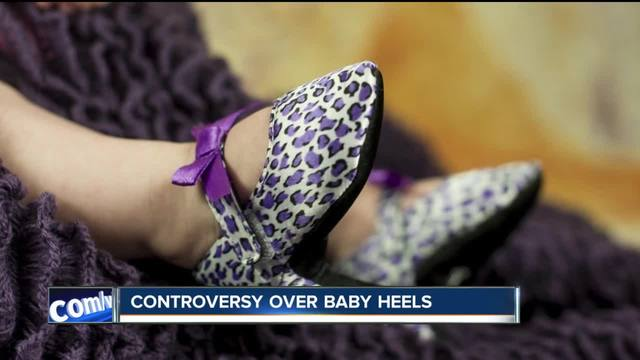 Baby high heels- cute or controversial-