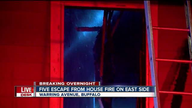 Five people escape from east side fire