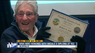 WWII hero honored with medals & diploma