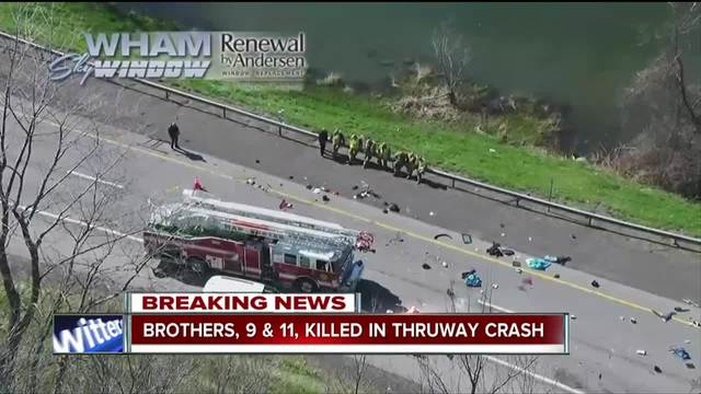 Police release names of children killed in Thruway accident