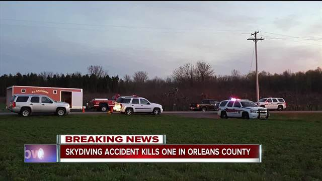Skydiving accident kills one in Orleans County