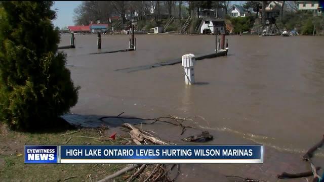 Marinas being hurt because of high water in Lake Ontario